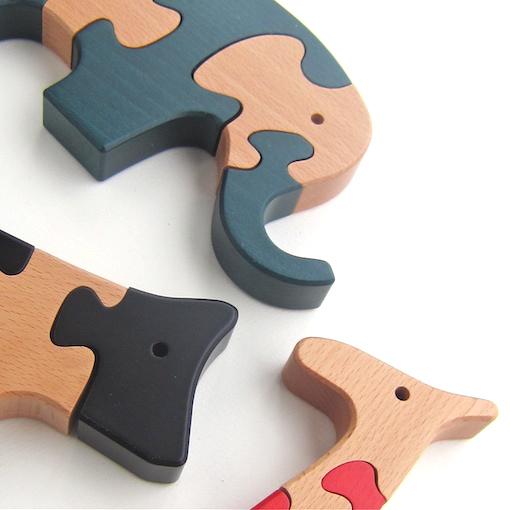 ヨーロッパの木のおもちゃVITALI 動物パズル