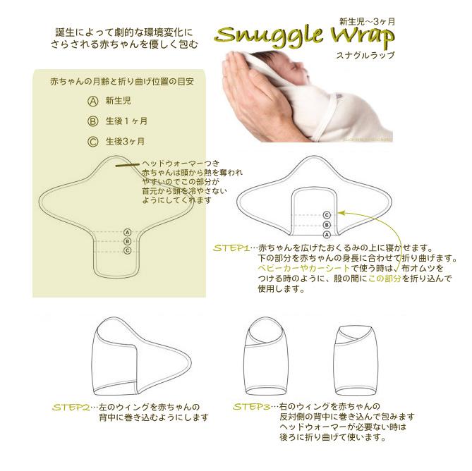 Dimplesのスナグルラップ 使い方図解