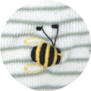 オーガニックコットン ベビー服 刺繍 ハチ
