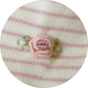 オーガニックコットン ベビー服 刺繍 ローズ