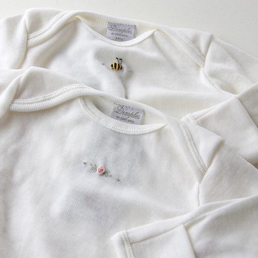 出産祝いにベビー服Dimplesのメリノウール