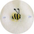 オーガニックコットンのベビー服Dimples刺繍